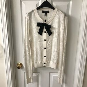 st john collection cardigan knit sweater size m